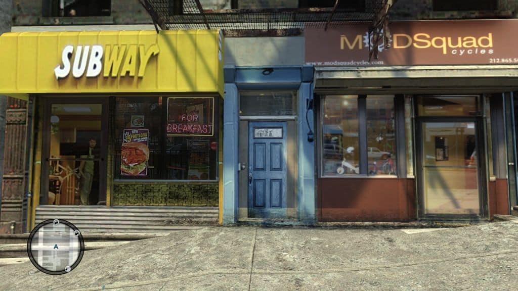 GTA IV - real shops