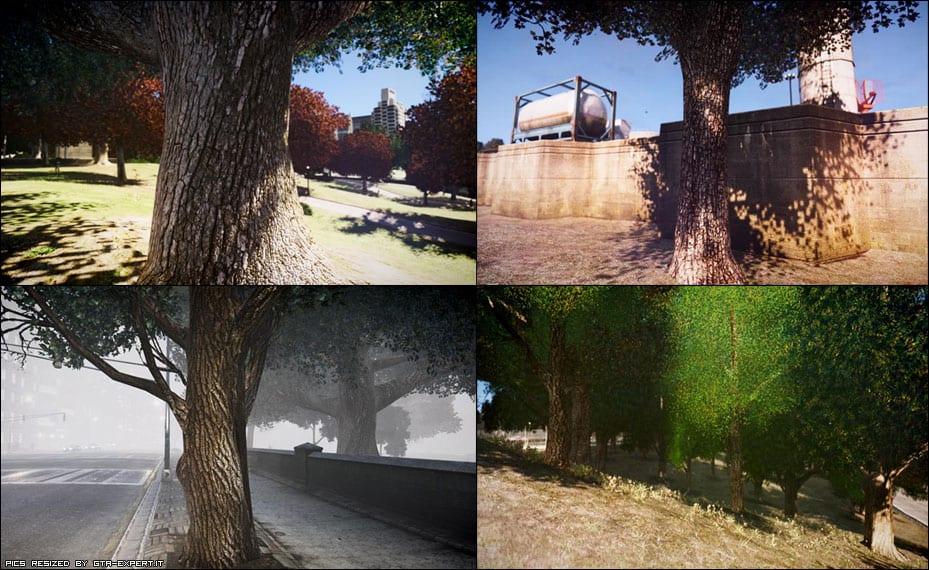 GTA IV - trees texture mod