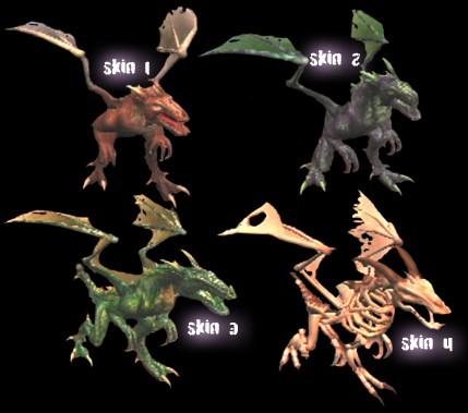war of the monsters Raptros skins