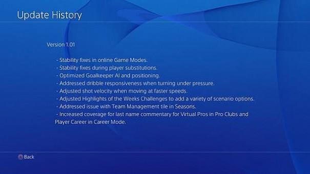 Aggiornamenti FIFA 15