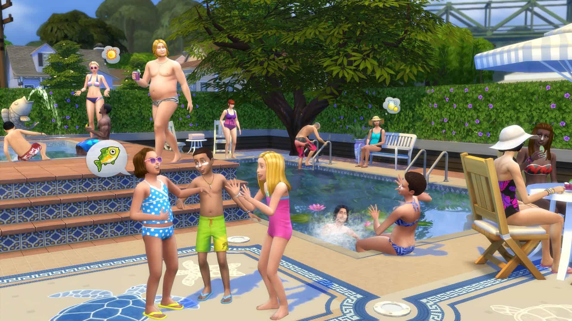 The sims 4 arrivano le piscine gameback for Sims 4 piscine a debordement