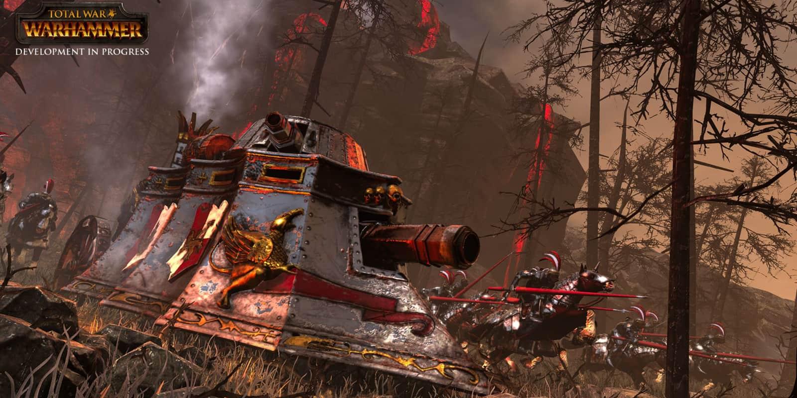 Total War Warhammer carro a vapore