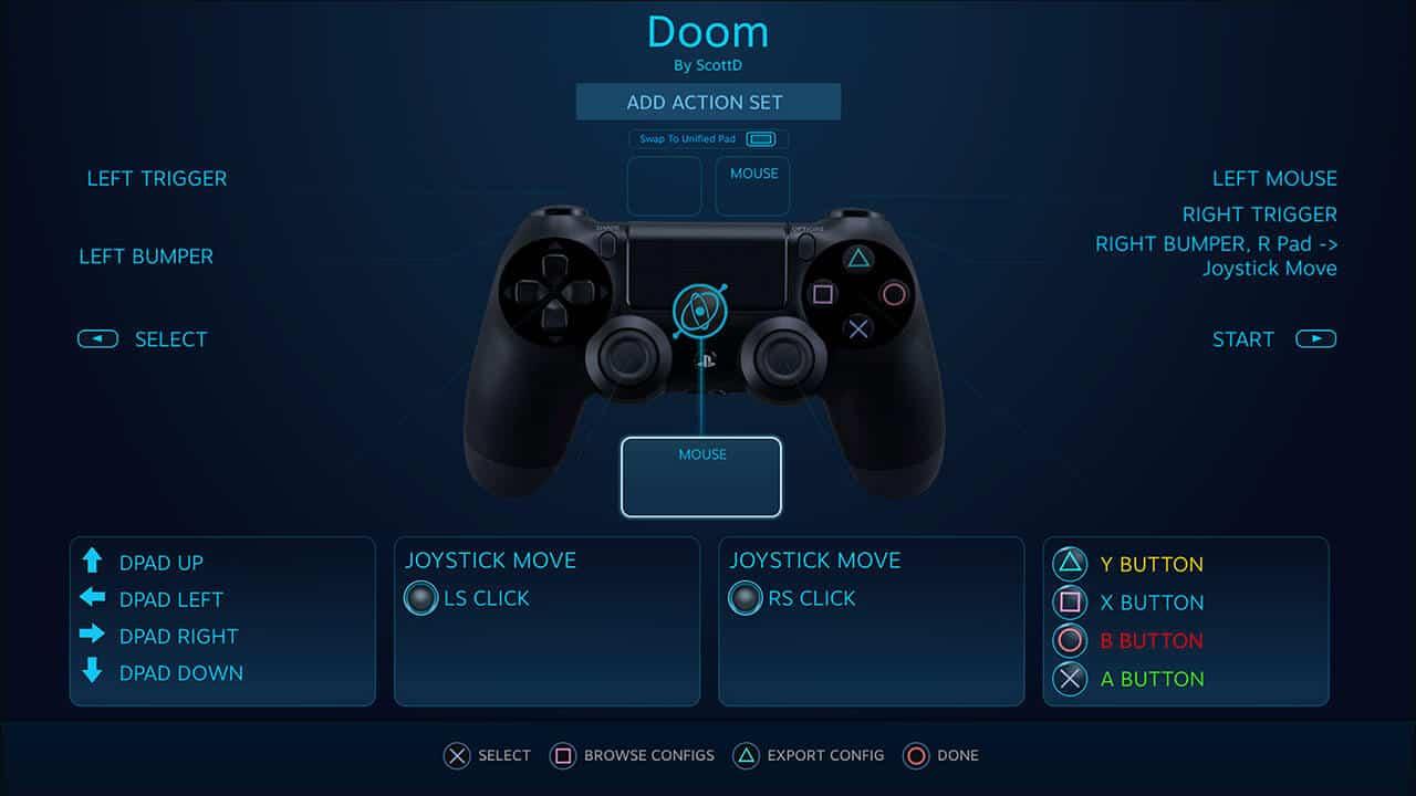 DualShock 4 supporto Steam