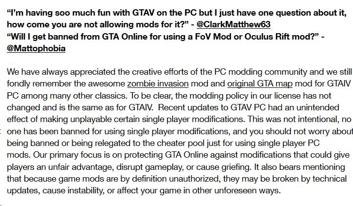 GTAV modding Rockstar