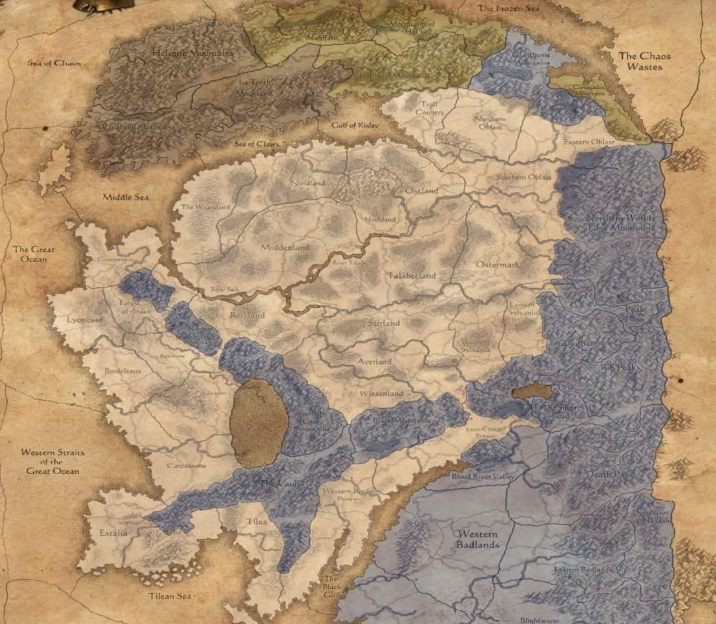 Total War Warhammer - Mappa conquistabile