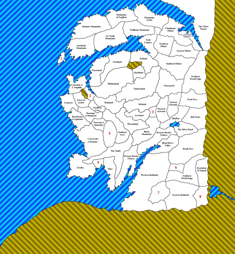Warhammer Total War mappa solo confini province