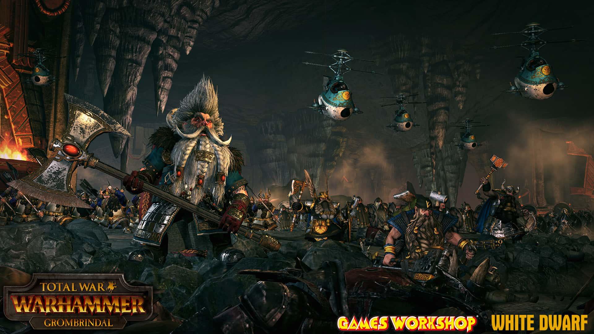 Total War Warhammer – Annunciato Grombrindal, il Nano Bianco