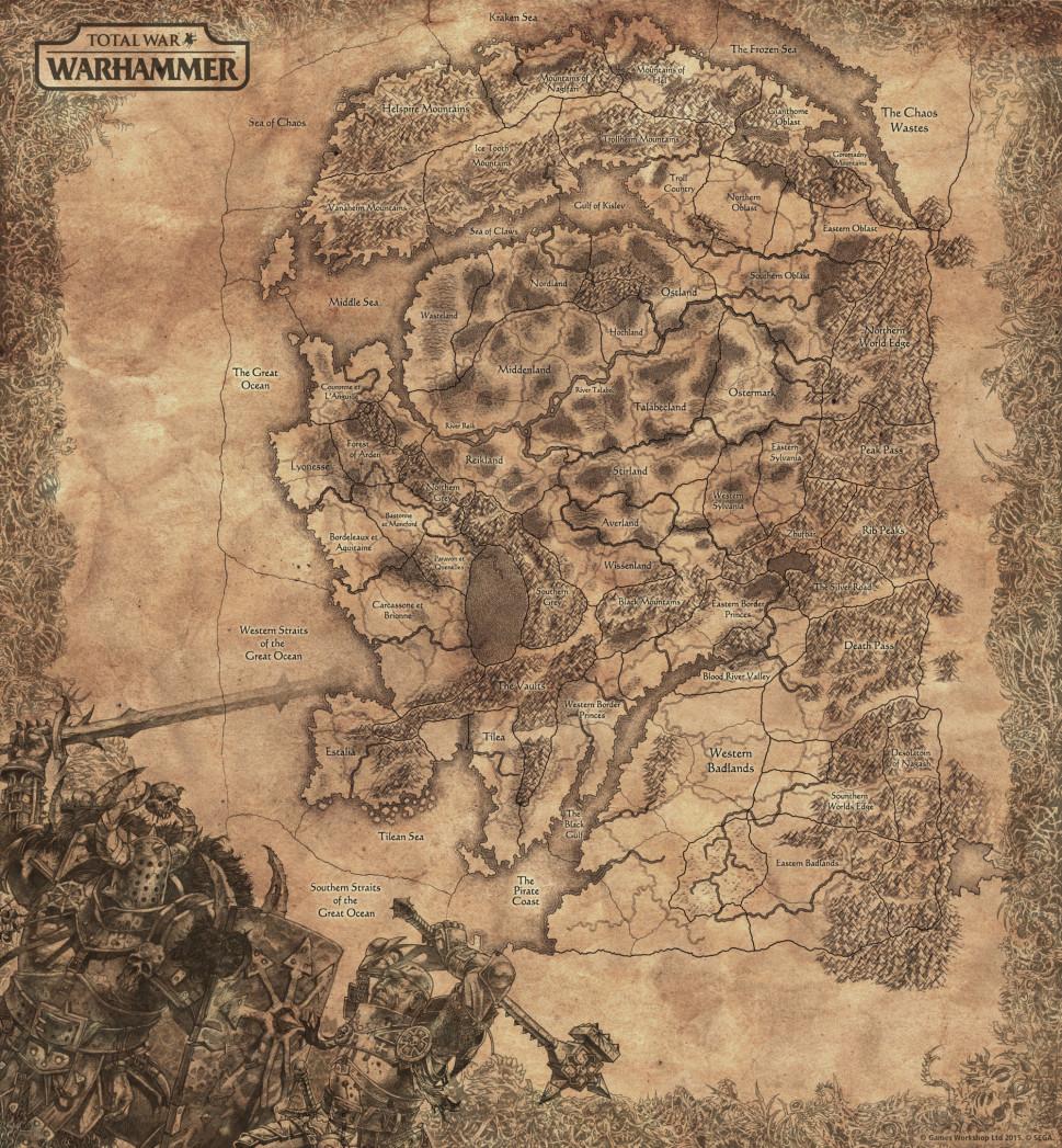 Warhammer Total War mappa completa