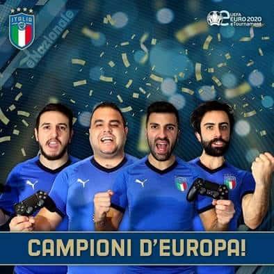 Italia campione d'Europa eFootball 2020